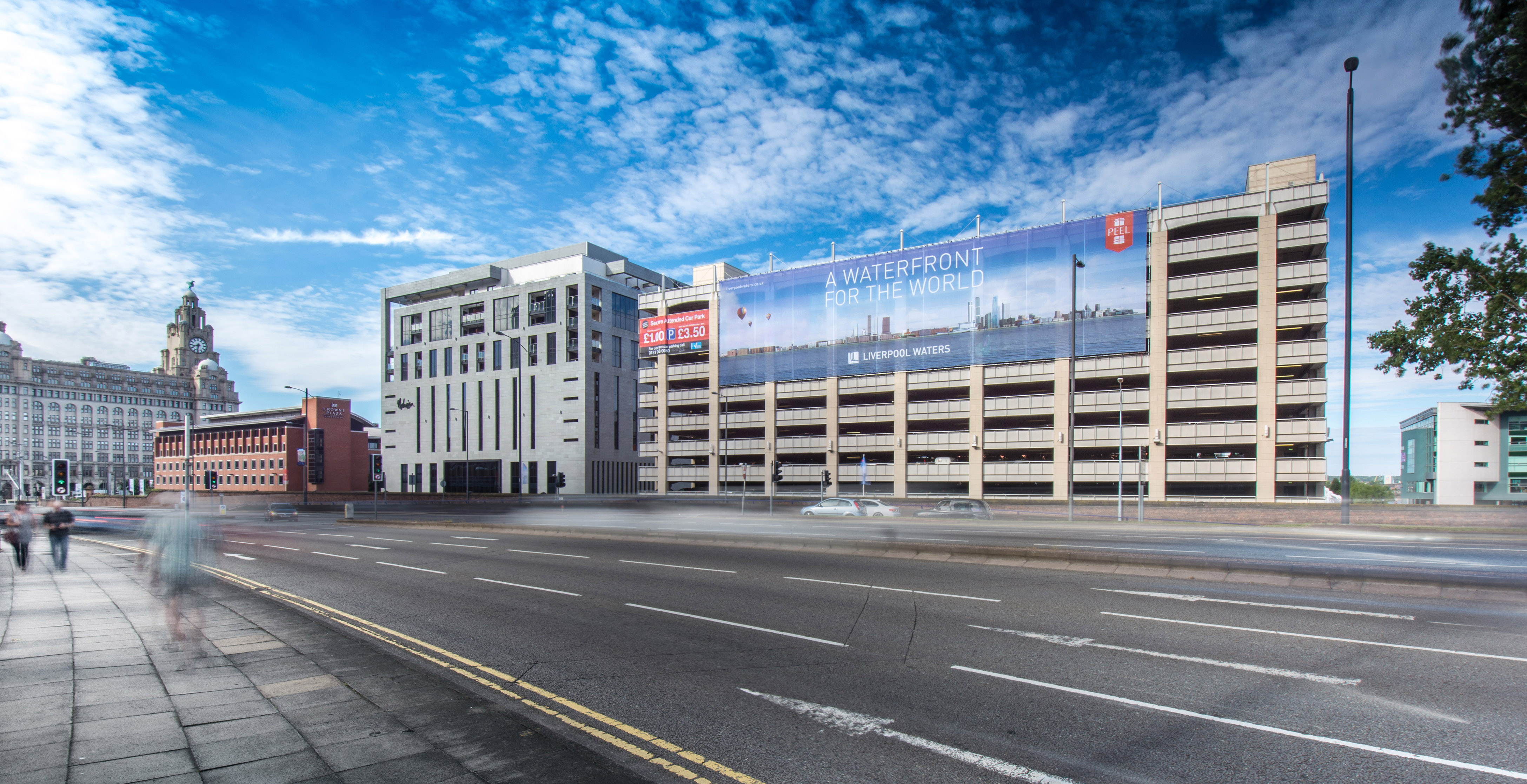 Building Wrap Framed Banner, Liverpool Water Front  Go Cre8